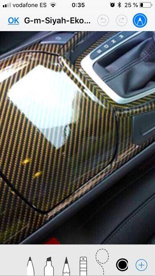 Vinilo carbono oro brillo, plata , negro ,granate