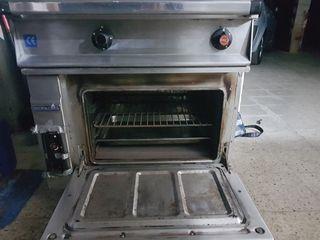 cocina industrial 2 fuegos horno repagas
