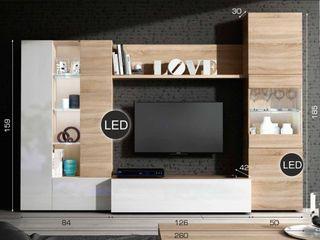 Mueble completo para televisión de salón comedor