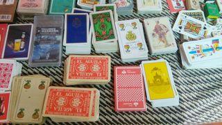 coleccion de barajas de cartas.