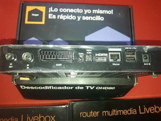 2 router livebox mas descodificador de tv ohd80