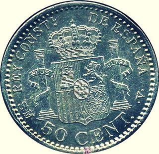 Alfonso XIII, 50 Céntimos de Peseta de 1904, *0 *4