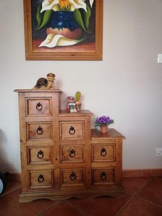 Mueble escalera cajones mexicano - rustico