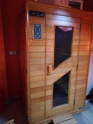 Sauna de calor seco por infrarrojos.