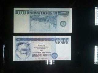billete 100 marcos DDR