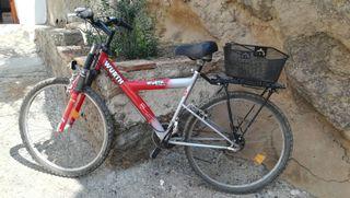 bicicleta de paseo con portaequipaje