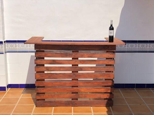 Barra bar madera palets de segunda mano por 205 en sant - Barra de bar madera ...