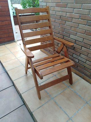 3x sillas de madera (3 unidades)