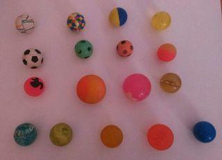 Lote 17 pelotas saltarinas