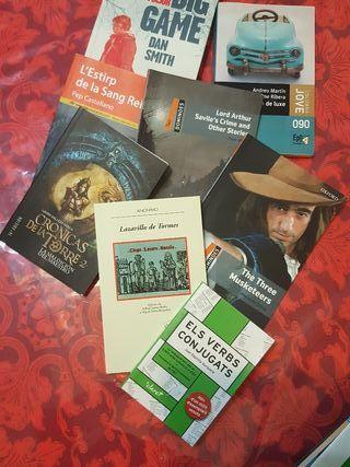 Libros lectura en castellano, catalán e inglés.