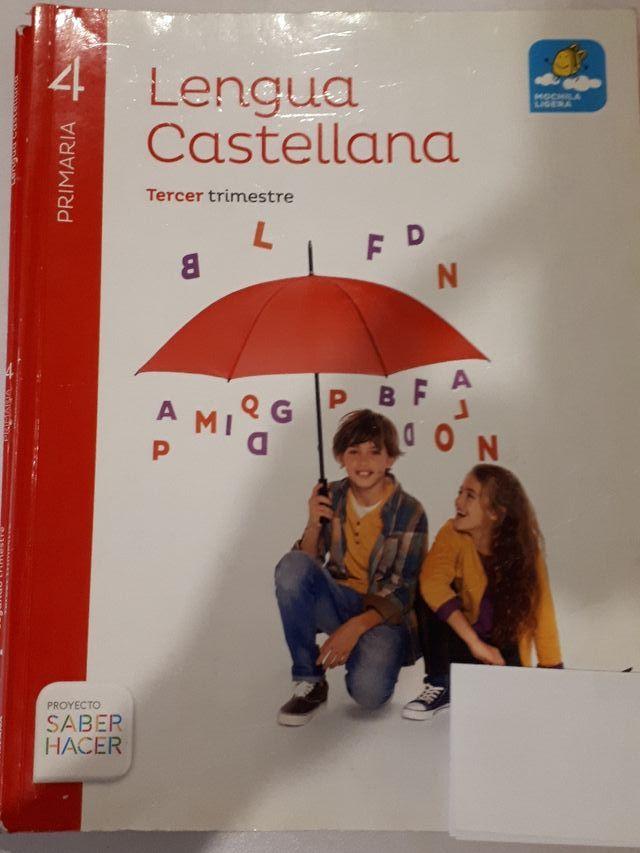 Libro texto cuarto primaria lengua castellana de segunda mano por 5 ...