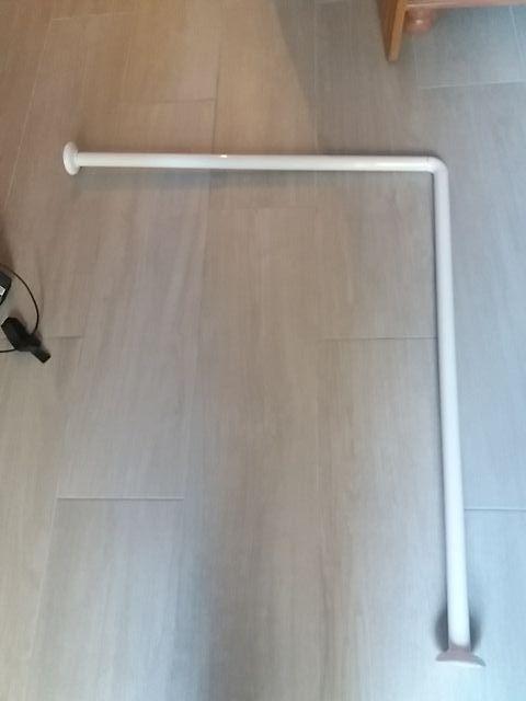 Barra Cortina Baño | Barra Cortina Bano Angular 80x90 Cm De Segunda Mano Por 3 En