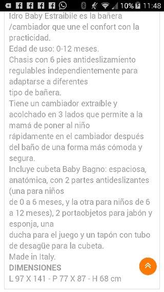 Bañera + cambiador
