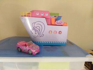 barco y coche de la Polly Pocket