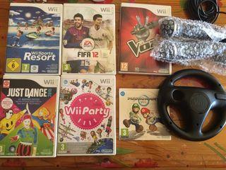 Consola Wii con 6 juegos