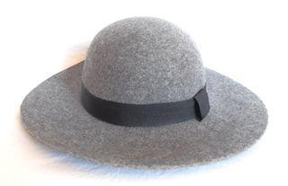 sombrero mujer lana gris