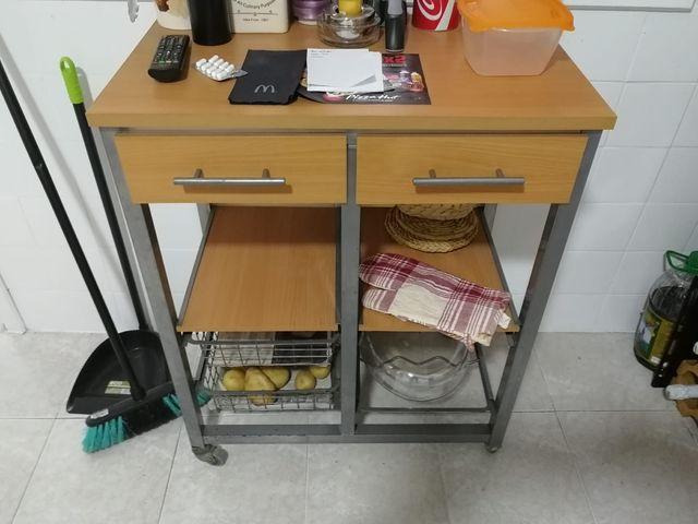 Mesa Auxiliar Cocina   Mesa Auxiliar Cocina Con Ruedas De Segunda Mano Por 70 En