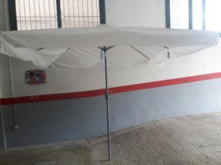 parasol 250 x 250 estructura aluminio manivela