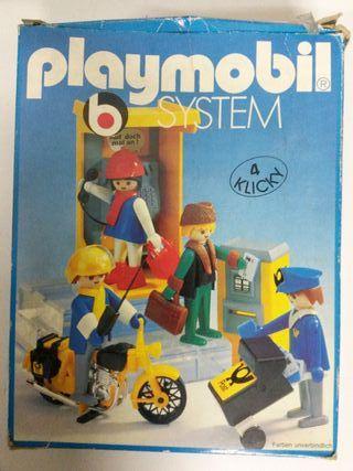 Playmobil cartero tren diorama cabina