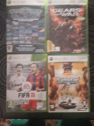 4 juegos Xbox 360