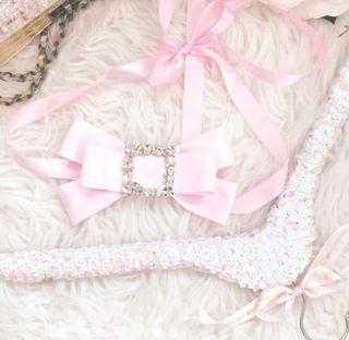 cinturón joya lazada rosa