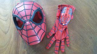 Mascara spiderman con guante