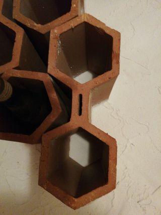 botelleros de ladrillo doble