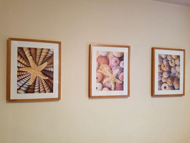 Conjunto de 3 cuadros con marco de madera y temati de segunda mano ...