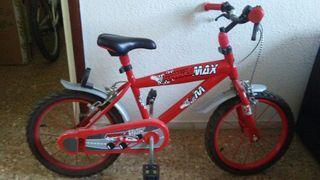 Bicicleta niño. De 3/4 a 7 años.