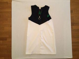 Vestido blanco mujer chica stradivarius talla S
