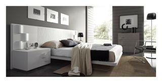 Habitacion dormitorio lacada en blanco mesegue