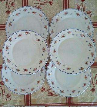 6 platos de postre Arcopal