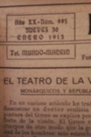 Periódico El Mundo todo el 1913