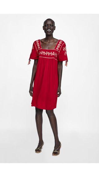 a35f852df3 10 Zara Temporada Segunda Mano Vestido De Nueva Bordados Por UrUvA8