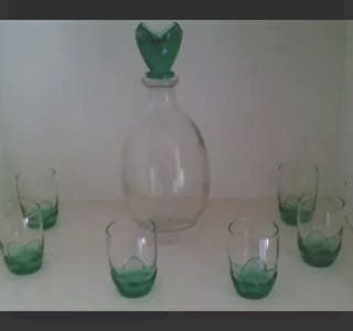 cristalería licor
