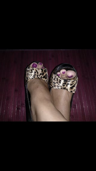 zapatos animal print y negro