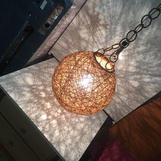 Lámpara de cuerdas vintage