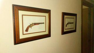4 cuadros armas antiguas
