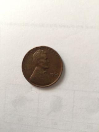 One cent moneda de 1964 antigua