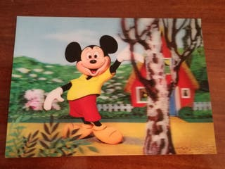 Postal Lenticular Mickey Mouse