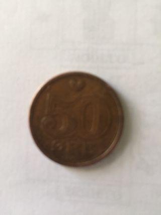 Moneda antigua danesa 1989