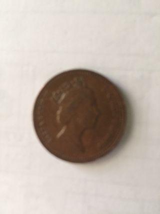 One penny 1989 moneda antigua