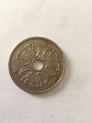 Moneda danesa 5 kroner 1990