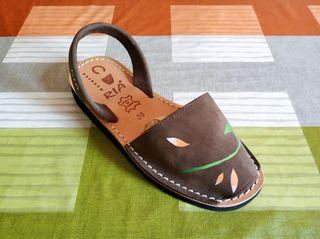 sandalias piel tipo Menorquina