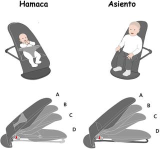 Hamaca tumbona portatil bebé