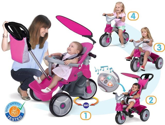 TRICICLO FEBER BABY TRIKE EVOLUTIVO ROSA