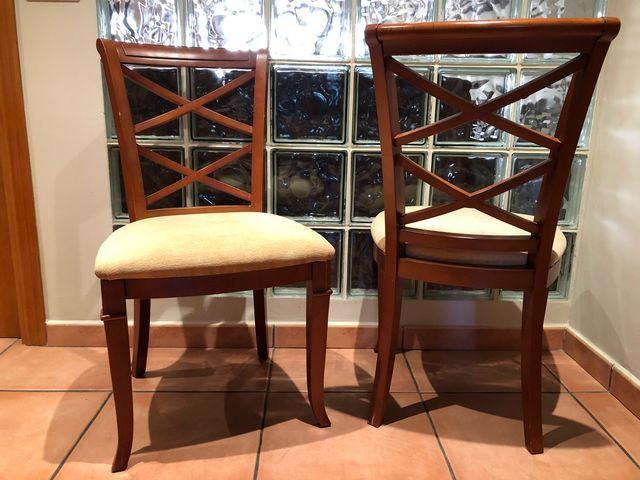 Conjunto sillas comedor. de segunda mano por 35 € en Urbanitzacio ...