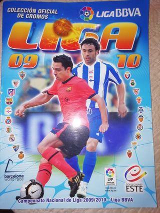 Album cromos fútbol liga 2009 2010