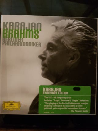 Brahms interpretado por Karajan 3 cds