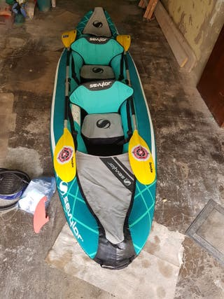kayak inflable Sevylor Madison, incluye extras